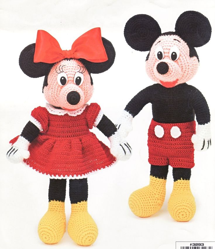 Mouse doll patterns free mickey amp minnie dolls crochet patterns