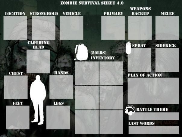 zombie survival printables just b cause. Black Bedroom Furniture Sets. Home Design Ideas