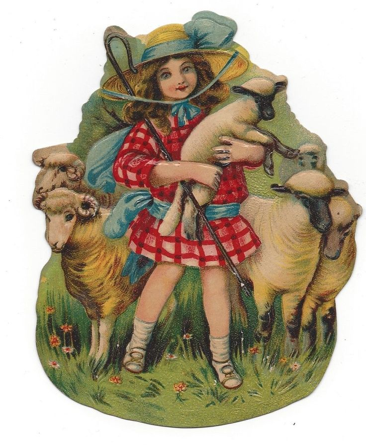 victorian die cut scrap Little Bo-Peep Advertising C. D. Kenny Tea and Coffee picclick.com