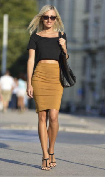 Wearing Pencil Skirt 30