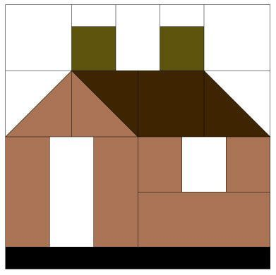 House quilt block pattern casas de tecido pinterest for House pattern