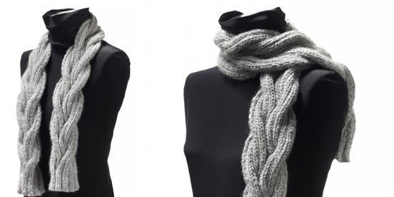 Nice knitted scarf for men or women