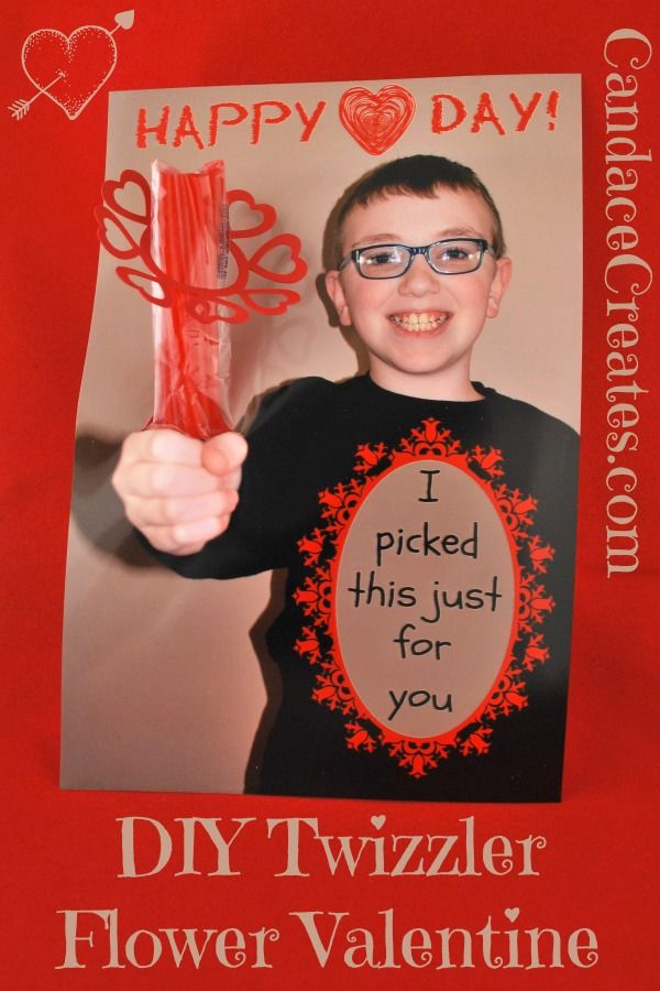 DIY Twizzler Flower Valentines... Here is a fun, personalized idea for ...