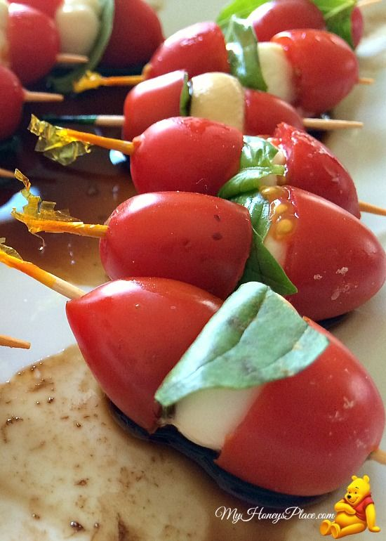 Caprese Salad Skewers | Yummy Nom Nomss | Pinterest