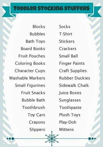 Toddler stocking stuffers
