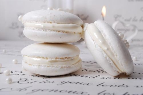 white macaroons | White Bridal Shower | Pinterest