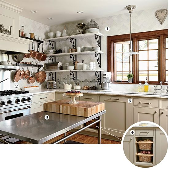 An ultra practical bistro style kitchen for Cafe style kitchen ideas