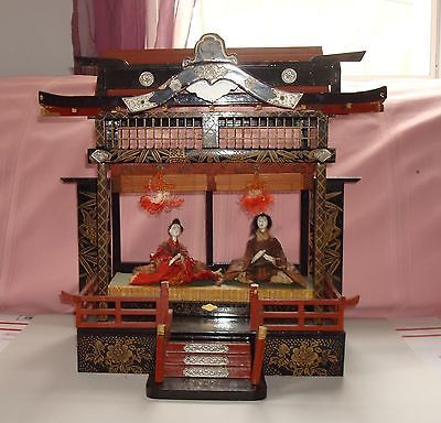 Antique vintage large japanese temple like doll house in for Classic japanese house