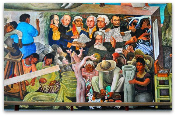 Pin by conchi p rez pastor escobedo on en la calle pinterest for Diego rivera pan american unity mural