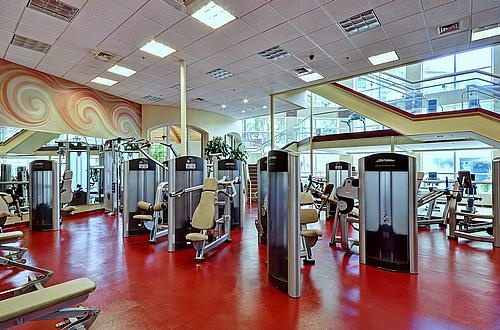 State Of The Art Fitness Center With Direct Pool Views
