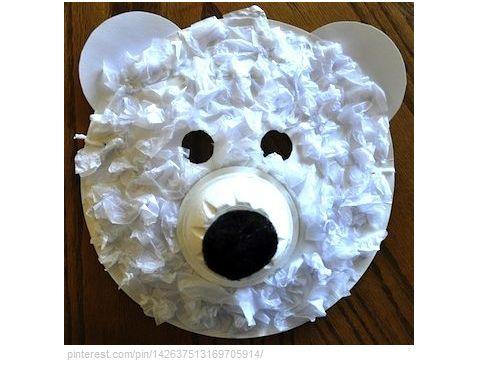 Polar Bear craft | Preschool-Cold Weather Animals | Pinterest