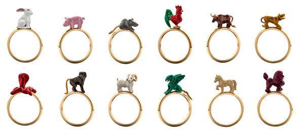 Animal House rings by Solange Azagury-Partridge
