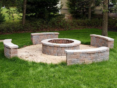 Stone benches around fire pit exteriors and outdoor spaces pinter Fire pit benches