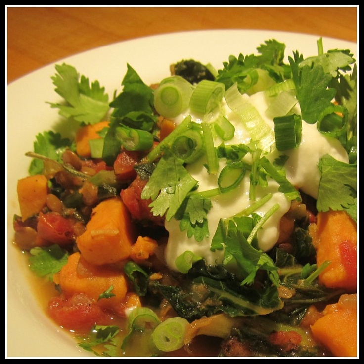 Curried Lentils with Sweet Potatoes and Kale Recipe – The Lemon Bowl ...