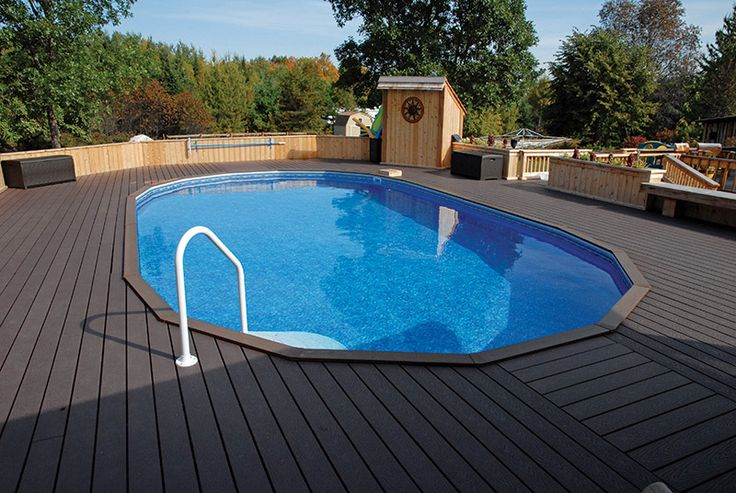 Semi inground pools and decks pinterest joy studio for Above ground pool decks las vegas