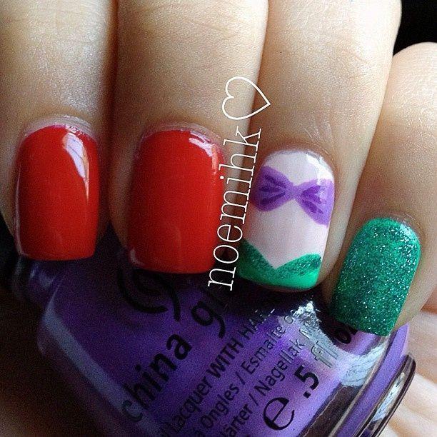 Little Mermaid Nails: Little Mermaid Inspired Nails
