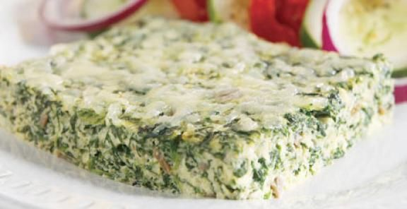 Spinach and Mushroom Frittata | KitchenDaily.com
