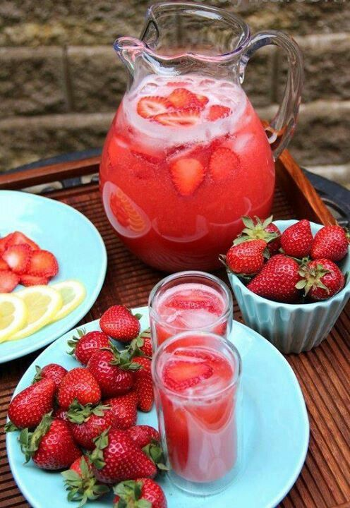 Strawberry Punch  Ingredients:  1 can (46 ounces) pineapple juice, chilled 2-1/4 cups water 3/4 cup thawed pink lemonade concentrate 3/4 cup sugar 1 quart strawberry ice cream 2-1/2 quarts ginger ale, chilled 1 Pint Fresh Strawberries  Directions:  In a punch bowl, combine the first four ingredients.  Add ice cream; stir gently.  Add ginger ale; stir gently.  Cut Fresh Strawberries and add to punch.  Serve immediately. Yield: 6 quarts.