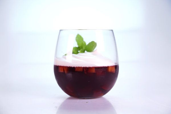 the chew   Recipe   Carla Hall's Stone Fruit Sangria Gelatin