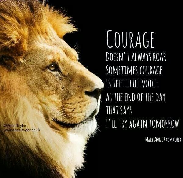 Courage Sayings and quotes Pinterest