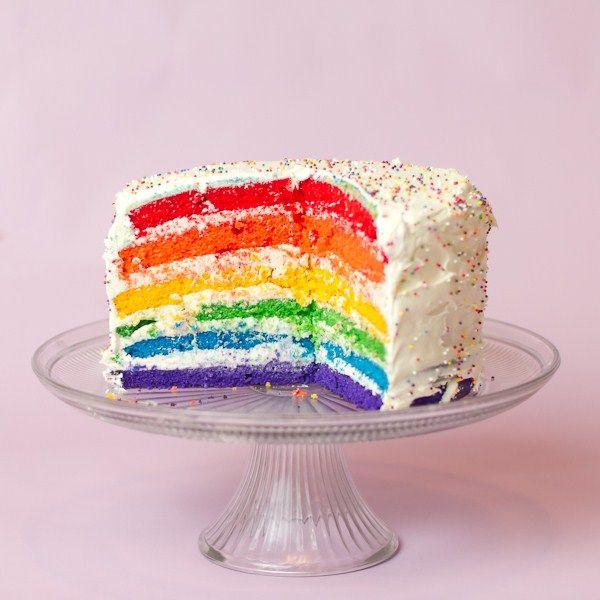 Rainbow Layer Cake Recipe — Dishmaps