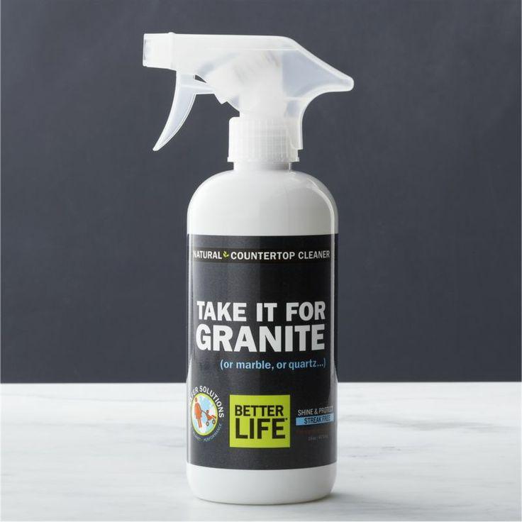 Granite Cleaner : ... It for Granite? Natural Stone Countertop Cleaner Crate and Barrel