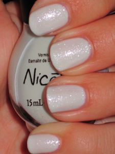 shimmery white. love this