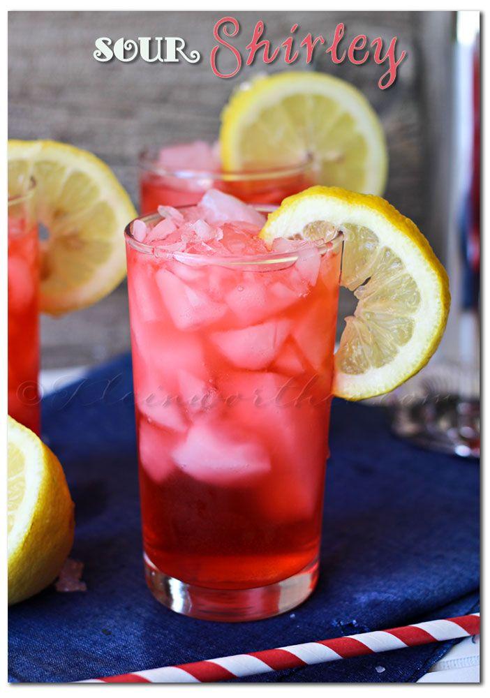 Sour Shirley (1 oz grenadine 1.5 oz rum 5 oz lemonade)