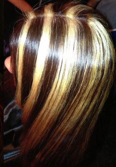 Blonde Highlight chunks This is what I don't want!