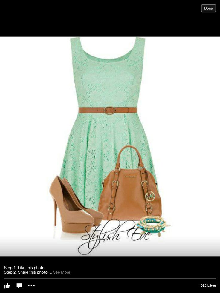 mint green lace summer dress style me awesome pinterest