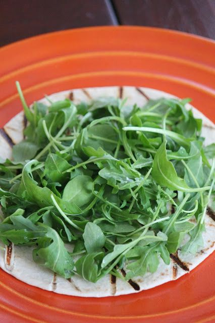 Grilled veggie Tostada with Arugula | Healthy eating | Pinterest