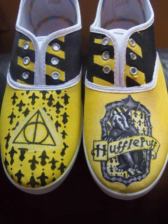 Harry Potter Shoes Hand Painted Hufflepuff by FoxsBazaar on Etsy, 50
