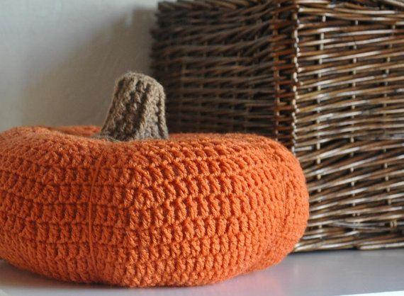 Pumpkin  Pillow Cushion Fall Home Decor Photo by AllThingsGranny, $30.00