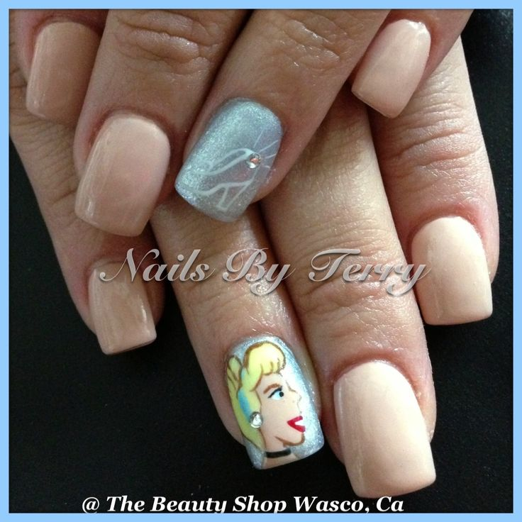 Cinderella Nails: Character Nail Art By Terry