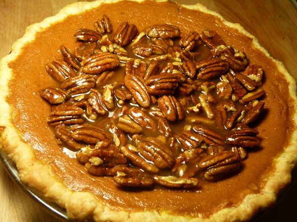 Bourbon Pumpkin Pecan Pie | Recipe