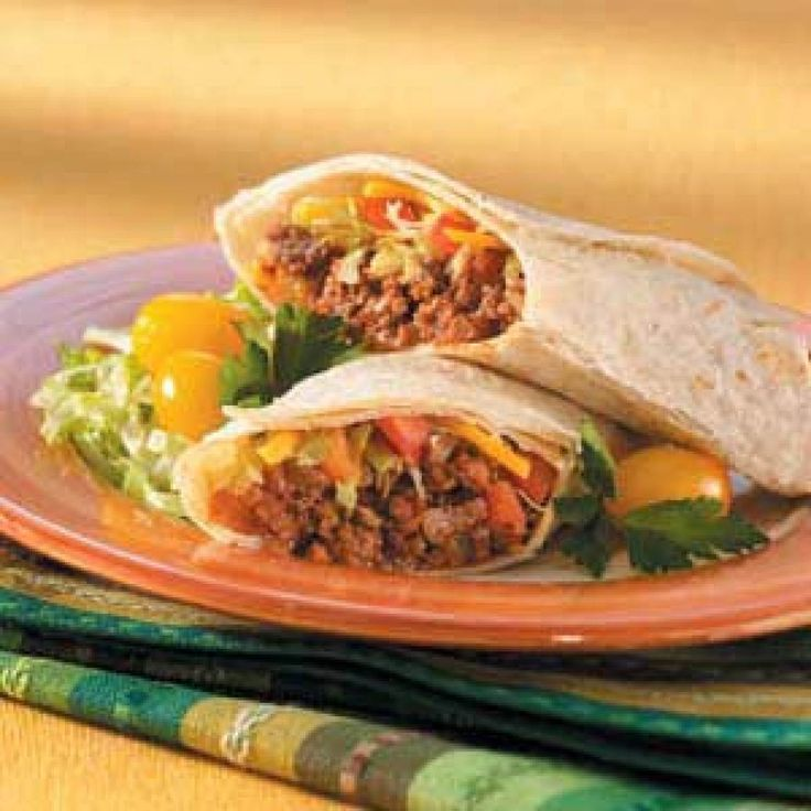 Taco Salad Wraps Recipe | That's a Wrap | Pinterest