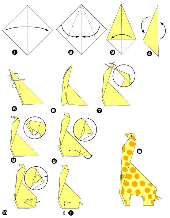 Origami of giraffe origami pinterest - Origami 3d animaux ...