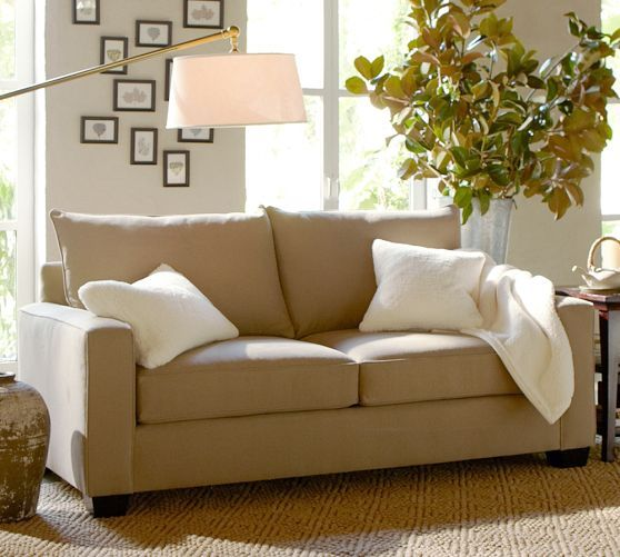Pb comfort square upholstered sleeper sofa pottery barn