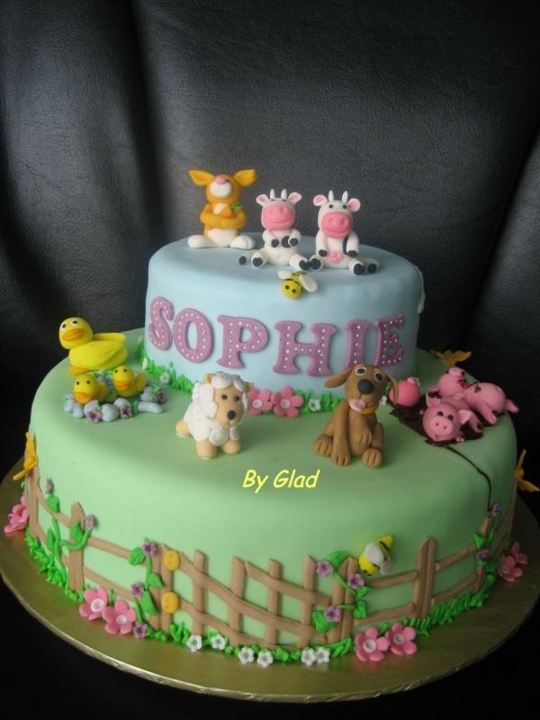 Farm animals Cake Decorating Pinterest