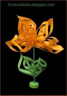 Curly paper flower