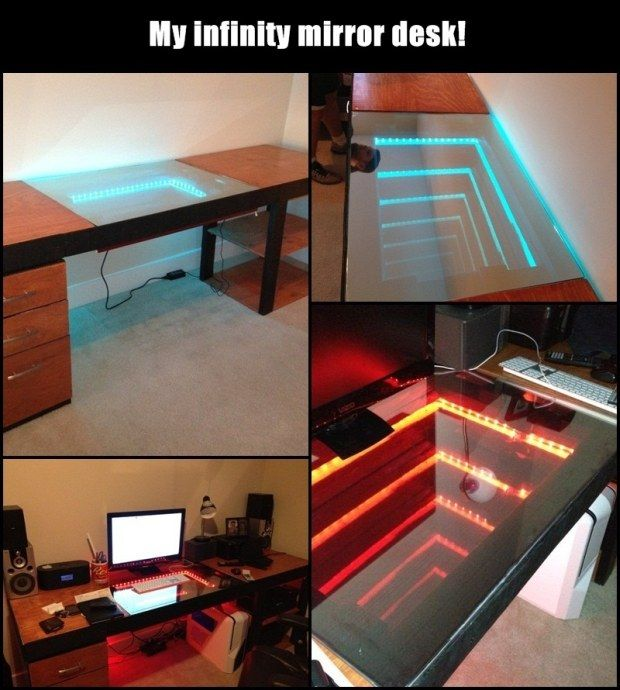 Creative Diy Ideas Mirror Desk Project Ideas Pinterest