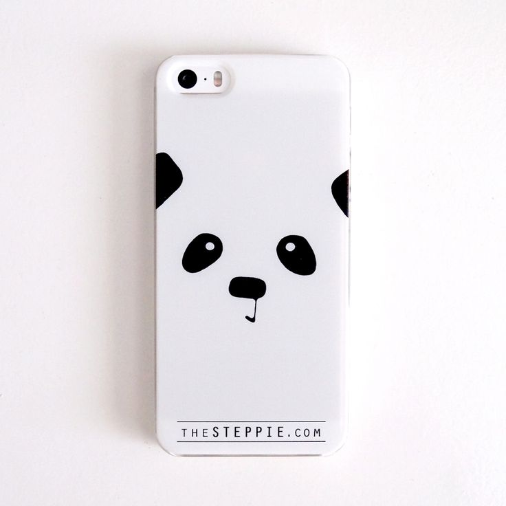 """Panda Face"" Cell Phone Case (4/4S, 5/5S, 5C, S4) / Steppie Clothing"