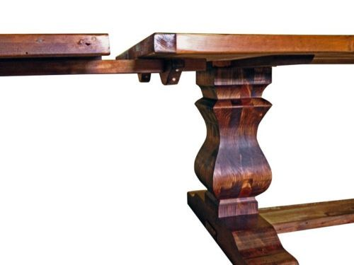 Reclaimed Wood Trestle Extension Dining Table  : cce6d88e0e20f2cc94b53e6aecf0b53d from pinterest.com size 500 x 375 jpeg 16kB