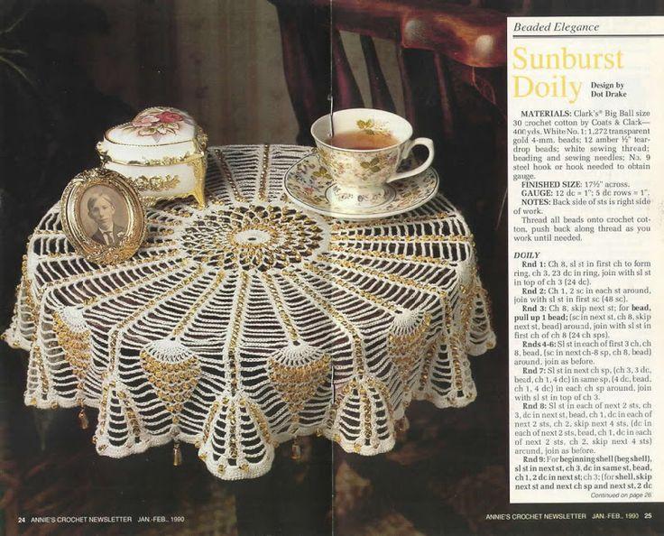 Annies Crochet Newsletter No. 43 Crochet - Tablecloths Pinterest