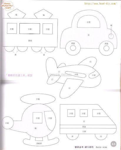Самолетик из фетра выкройки