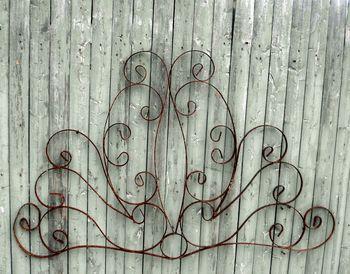 large wrought iron lindsey wall art vals house pinterest. Black Bedroom Furniture Sets. Home Design Ideas