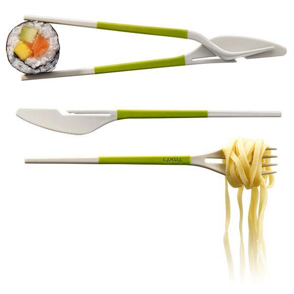 Knife, fork, chopsticks= brilliant
