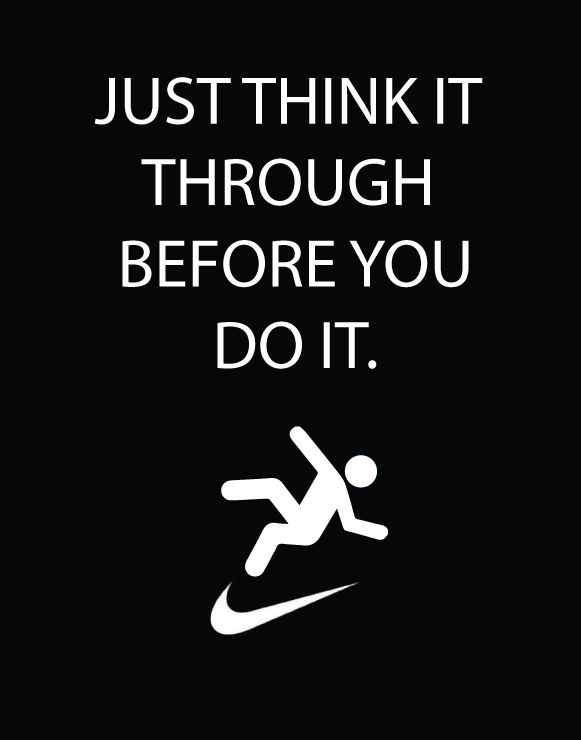 parody of the famous nike slogan slogans pinterest