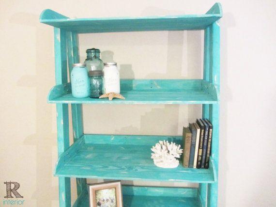 Ladder shelf reclaimed wood ladder shelf reclaimed - Reclaimed wood ladder shelf ...