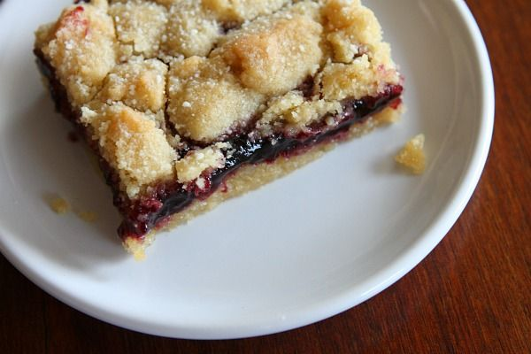 Blackberry Jam Shortbread Bars | Recipe